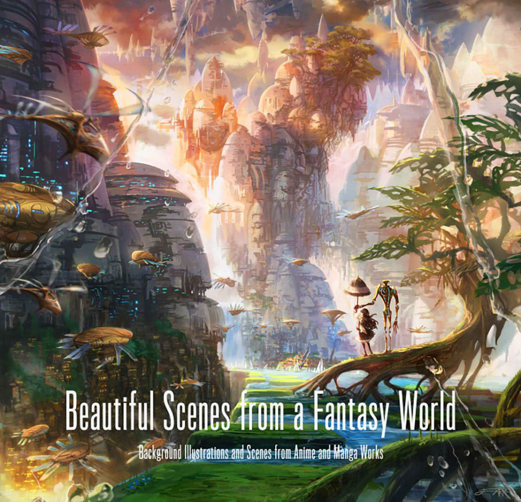 beautiful scenes from a fantasy world – background illustrations and