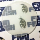 25 Pack Frosted Clear Round Clamshell CD DVD Case with Snap Seal