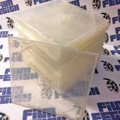 25 Pack Frosted Clear Square Clamshell CD DVD Case with Snap Seal