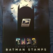 New York Comic Con (NYCC) October 9, 2014 Batman Stamps US Postal Service 18 x 24 inch Stamp Issue Promotional Poster