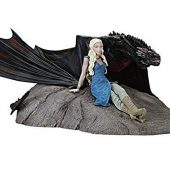 Dark Horse Game of Thrones Emilia Clarke as Daenerys Targaryen with Drogon Statuette