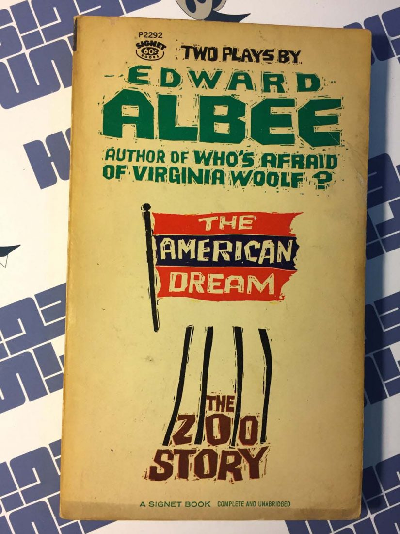 Two Plays by Edward Albee: The American Dream and The Zoo Story Paperback Edition (1959)