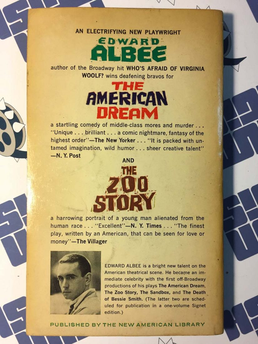a review of edward albees play the sandbox Edward albee (march 12, 1928 - september 16, 2016) was an american playwright, known for works including who's afraid of virginia woolf, the zoo story, the sandbox and the american dream see also: who's afraid of virginia woolf (film adaptation of his play.