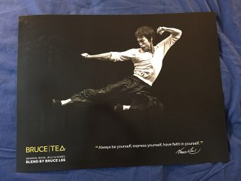 RARE Bruce Lee Tea 24 x 18 inch Promotional Poster (2015)
