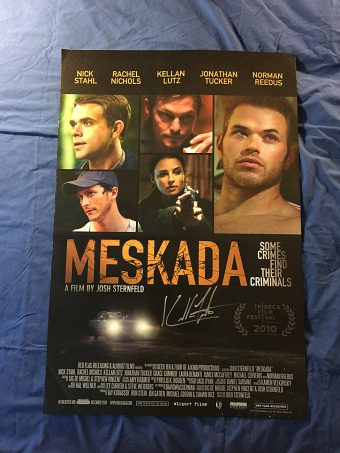 Meskada Movie Poster Signed by Kellan Lutz (2010)