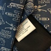 Star Wars Universe Space Ship Blueprint Style Necktie