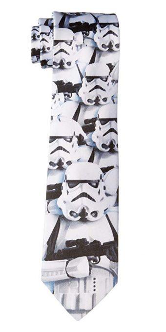 Star Wars Universe Stormtrooper Pattern Necktie