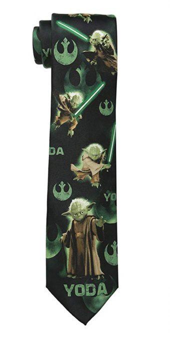 Star Wars Universe Yoda Pattern Necktie