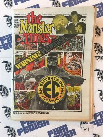 The Monster Times Volume 1 Number 10 with Jack Davis Comic Poster Insert (May 31, 1972)