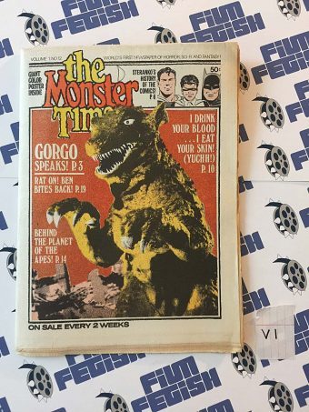 The Monster Times Volume 1 Number 12 with GORGO Poster Insert (June 28, 1972)