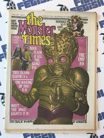 The Monster Times Volume 1 Number 9 Including This Island Earth Poster Insert (May 17, 1972)