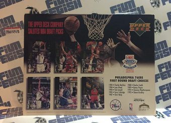 Upper Deck NBA First Round Draft Picks Salute Limited Edition Promo Sheet – Philadelphia 76ers, Charles Barkley, Kenny Payne, Shawn Bradley (1994)