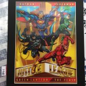 DC Comics 3D Art: Justice League 11 x 14 inch Portrait – Lenticular Shifting Matted Print [18911]