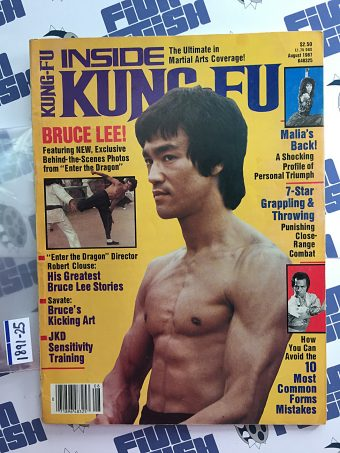Inside Kung Fu Magazine August 1987 – Bruce Lee Cover [189125]