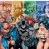 Justice League of America Racing Forward 36 x 24 inch Comics Poster