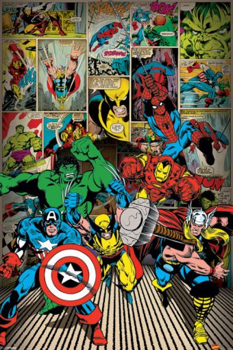 Marvel Comics Superhero Grid 24 x 36 inch Comics Poster