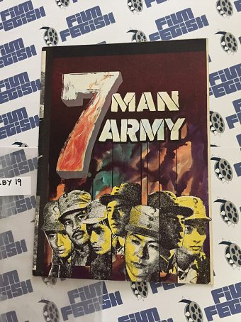 7 Man Army Original Press Booklet David Chiang Ti Lung Shaw Brother (1976)