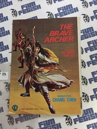 The Brave Archer Original Press Booklet, Shaw Brothers, Fu Sheng (1977) LBY23