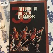 Return to the 36th Chamber Press Booklet Shaw Brothers, Gordon Liu (1980)