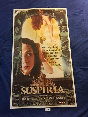 Dario Argento's Suspiria 23×40 inch Original VHS Video Release Movie Poster (1977)