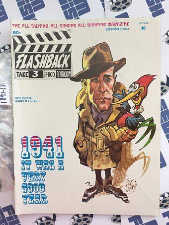 Flashback Magazine No. 3 September 1972 Jack Davis Humphrey Bogart Woody Woodpecker