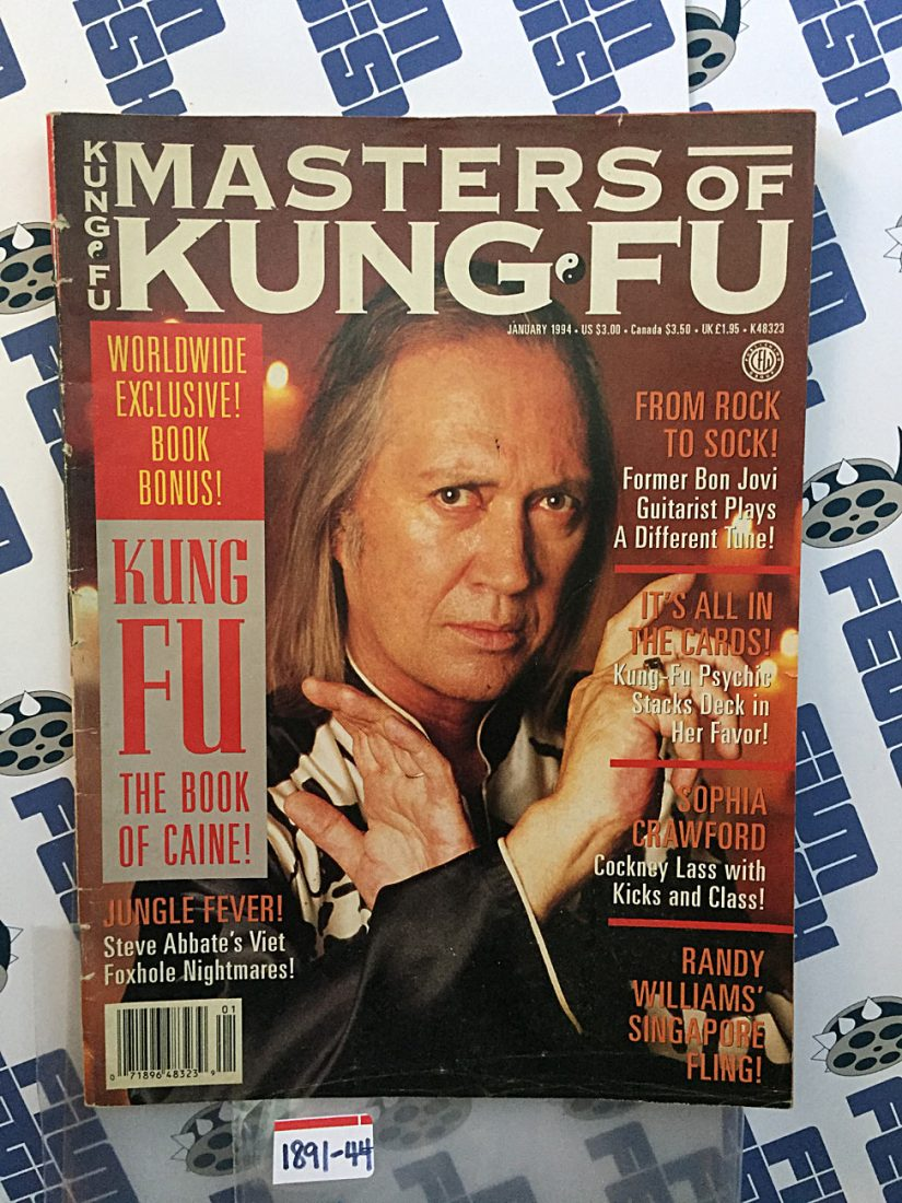 Masters of Kung Fu Magazine January 1994 – David Carradine, Sophia Crawford, Steve Abbate [189144]