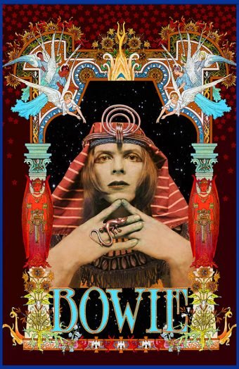 David Bowie Pharoah 15×23 inch Bob Masse Music Poster