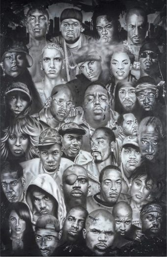Rap Music Icons 24 x 36 inch Poster