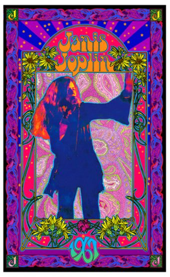 Janis Joplin 1967 Bob Masse 18×24 inch Tribute Music Poster