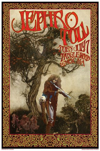 Jethro Tull Tanglewood Lenox MA July 7 Bob Masse 15×23 inch Music Concert Poster
