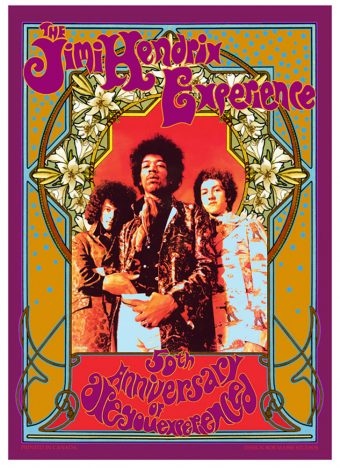 The Jimi Hendrix Experience 50th Anniversary Are You Experienced 16×23 inch Poster