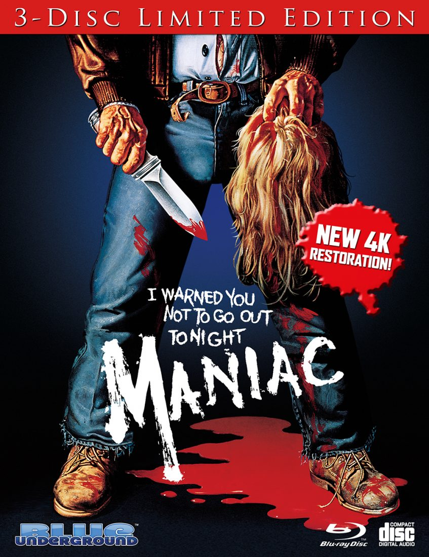 Maniac 3-Disc Limited Edition Collector's Blu-ray + Soundtrack Set