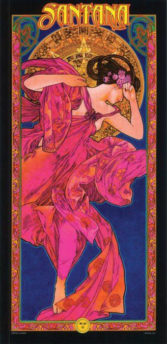 Santana Bob Masse 12 x 25 inch Music Poster