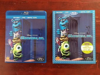 Disney Pixar's Monsters Inc. Blu-ray + DVD with Slipcover