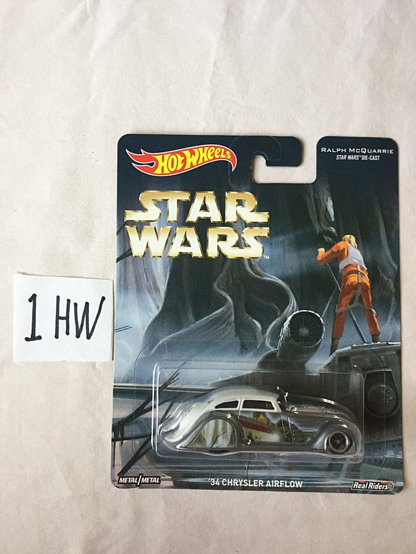 Hot Wheels Ralph McQuarrie Star Wars Die-Cast Metal 1934 Chrysler Airflow Vehicle