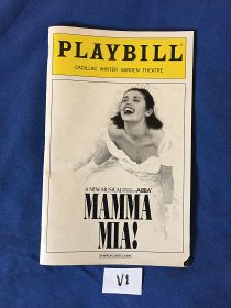 Playbill Magazine Mamma Mia at Cadillac Winter Garden Theatre (February 2004)