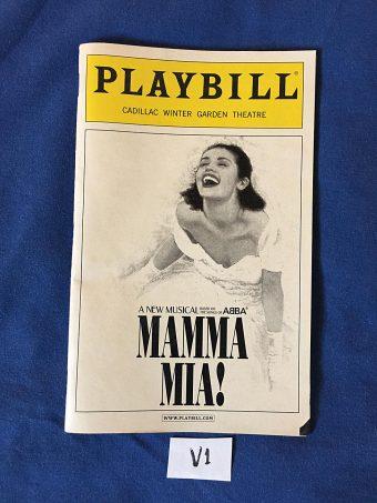 Playbill Magazine Mamma Mia at Cadillac Winter Garden Theatre (February 2004)
