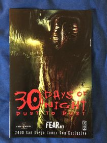 30 Days of Night: Dust to Dust 2008 San Diego Comic Con Exclusive Preview Comic