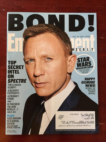 Entertainment Weekly Magazine (October 30, 2015) Daniel Craig