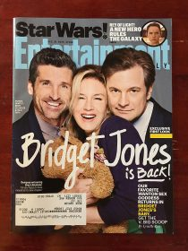 Entertainment Weekly Magazine (December 31, 2015) Patrick Dempsey, Renee Zellweger, Colin Firth