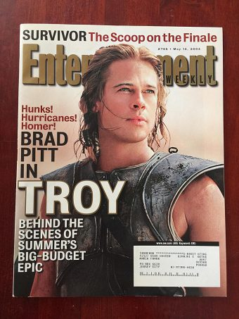 Entertainment Weekly Magazine (May 14, 2004) Brad Pitt, Troy