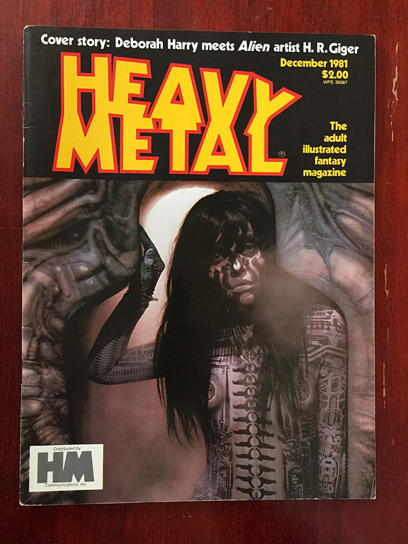 Heavy Metal Magazine (December 1981) Alien Artist H.R. Giger