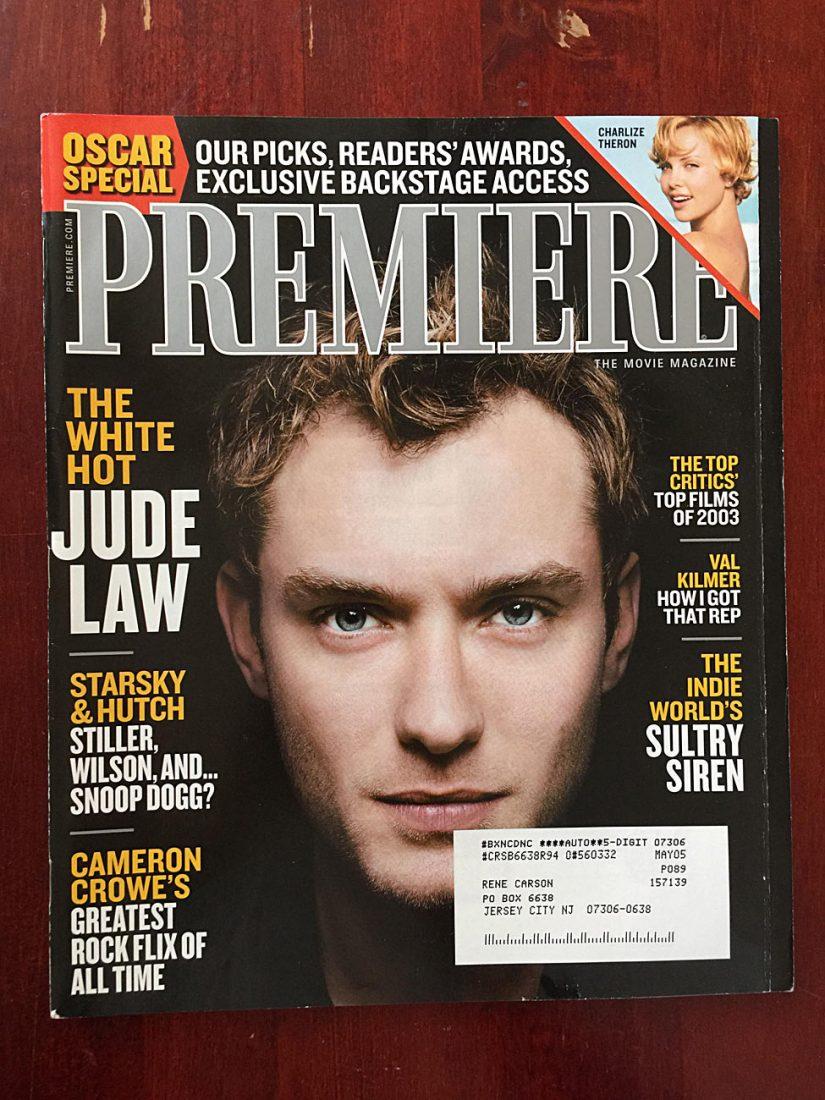 Premiere Magazine (March 2004) Jude Law