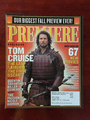 Premiere Magazine (September 2003) Tom Cruise in The Last Samurai