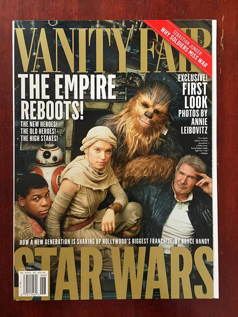Vanity Fair Magazine (June 2015) Star Wars Exclusive First Look Photos by Annie Leibovitz