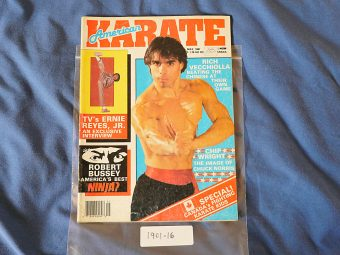 American Karate Magazine Ernie Reyes Jr. Rich Vecchiolla (May 1987)