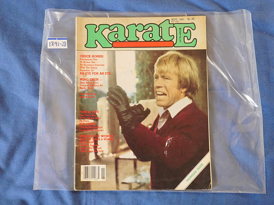 Karate Monthly Magazine First Issue (November 1981) Chuck Norris 189128