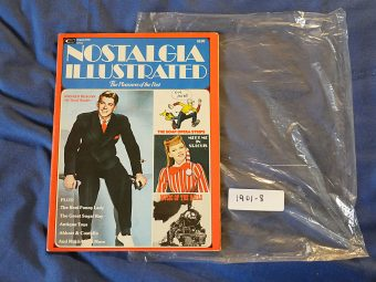 Nostalgia Illustrated Magazine (August 1975) Ronald Reagan Cover Garland Lana Turner Sugar Ray Hepburn [19018]
