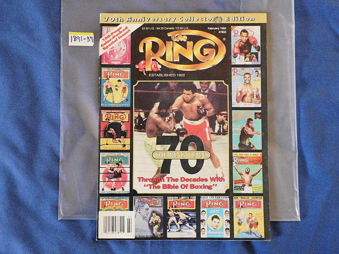 The Ring Magazine: 70th Anniversary Collectors Edition (February 1992) Joe Frazier Muhammad Ali [189139]