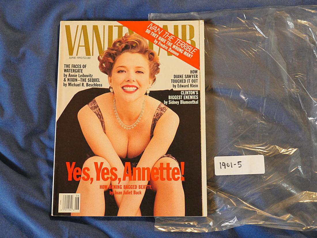 Vanity Fair Magazine (June 1992) Annette Bening Cover